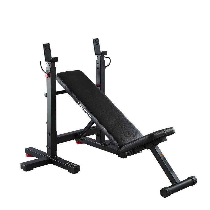 NO_NAME_FOUND Fitness - SKLÁDACÍ POSILOVACÍ LAVICE DOMYOS - Posilování a kruhový trénink