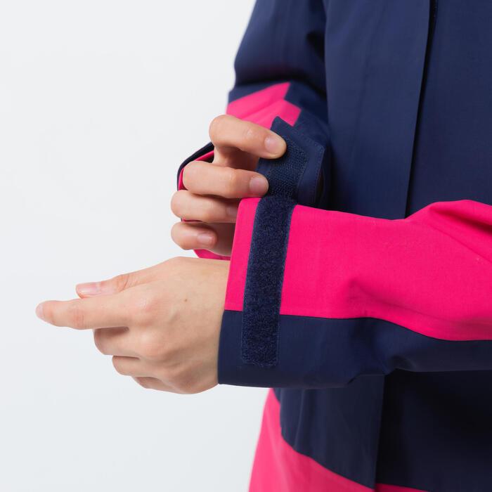Women's Waterproof Windproof Sailing Jacket 300 - Blue pink