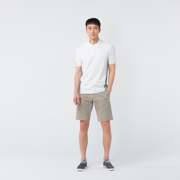 Men's Sailing Short Sleeve Polo Shirt 100 - Magnolia Grey