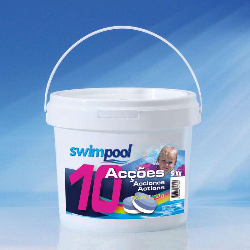 Piscinas Natação - Cloro 10 acções 5KG Swimpool SWIMPOOL - Adaptação Meio Aquático, Jogos, Piscinas