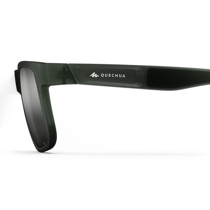 Óculos de sol de caminhada - MH140 - Adulto Cinzento Polarizado Categoria 3