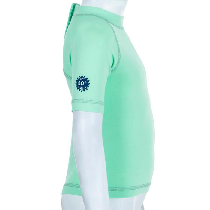 T-shirt anti UV bébé manches courtes vert clair
