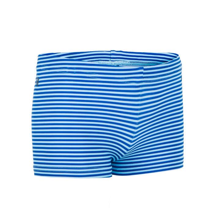 Boxer de bain bébé / enfant bleu imprimé RAYURES