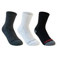 Kids' High Sport Socks RS 500 Tri-Pack - Black/White/Grey