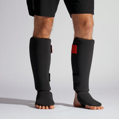 Adult Shin and Foot Guard 100 Ergo - Black