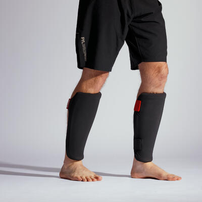 Shin Guard 100 Ergo - Black/Red/Grey