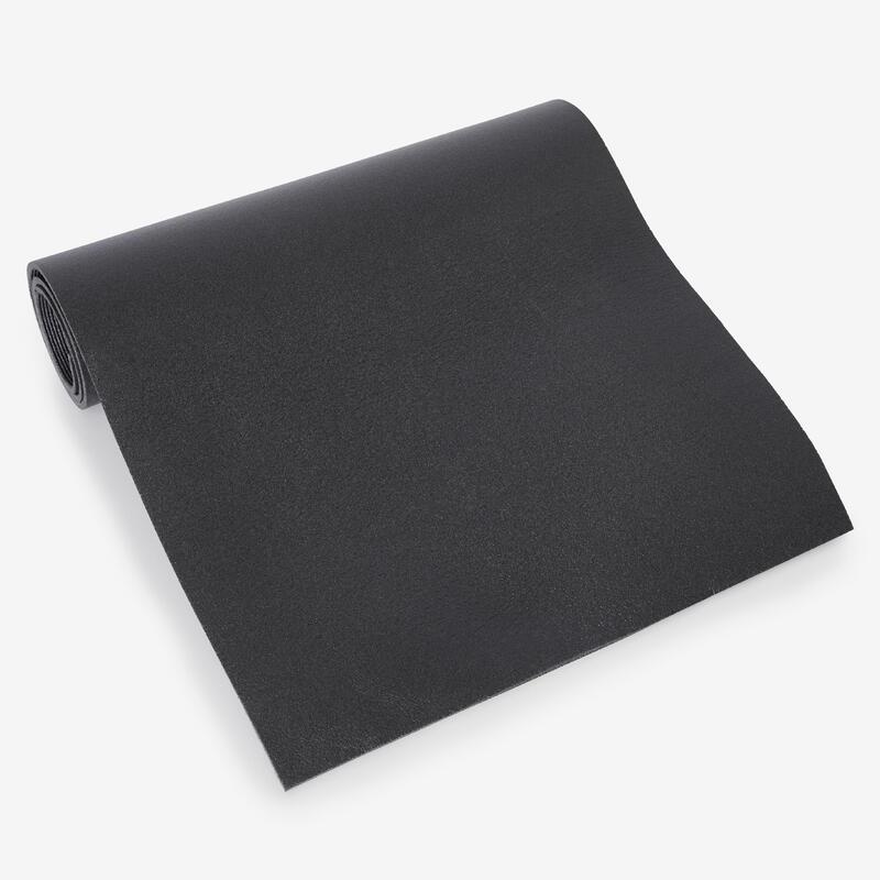 Strečinga grīdas paklājiņš, 140cmx50cmx6,5mm, melns