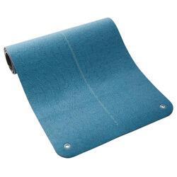 Fitnessmat Maxi Grip turquoise met print 170 cm x 62 cm x 8 mm