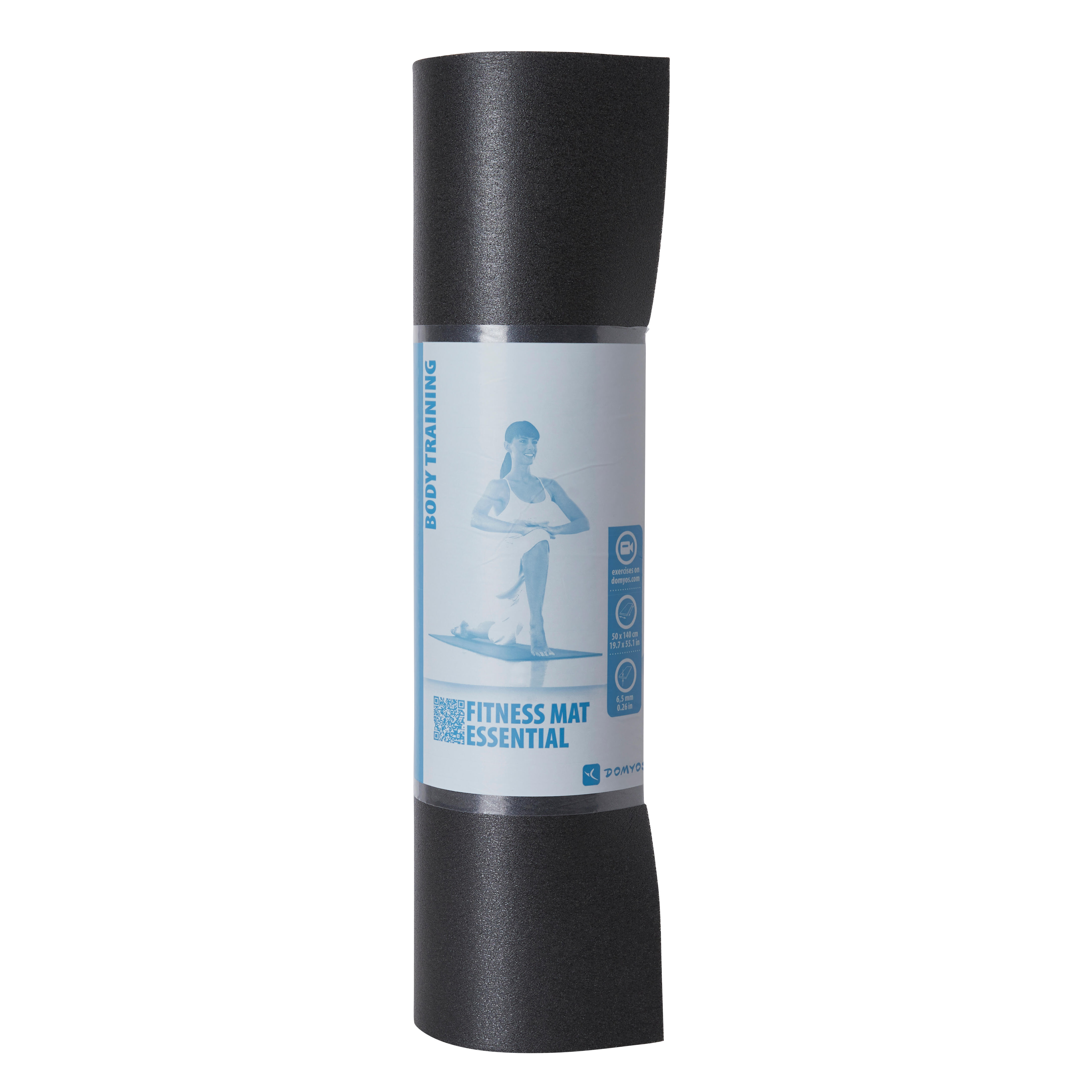 TAPIS DE SOL STRETCHING NOIR 140cmx50cmx6,5mm
