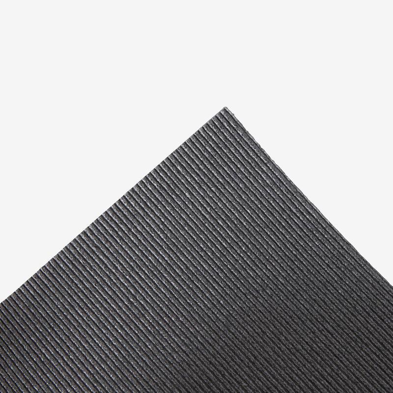 Pilates & Stretching Floor Mat 100 Size S 6.5mm - Black