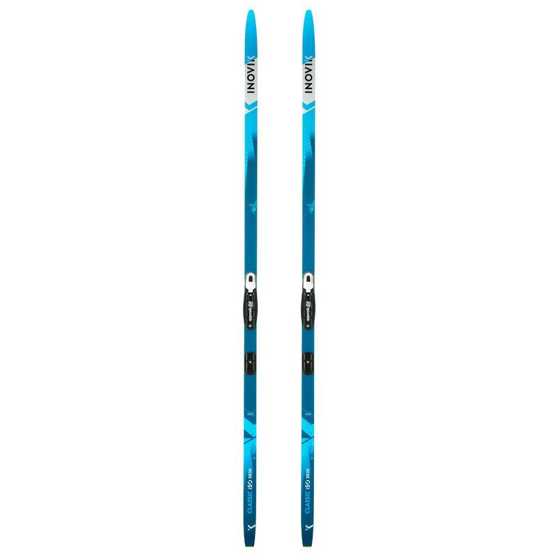 Ski's voor klassiek langlaufen 150 met vellen + Rottefella Basic Auto-binding