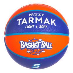 兒童款(10歲以下)5號籃球Wizzy - 藍橘配色。