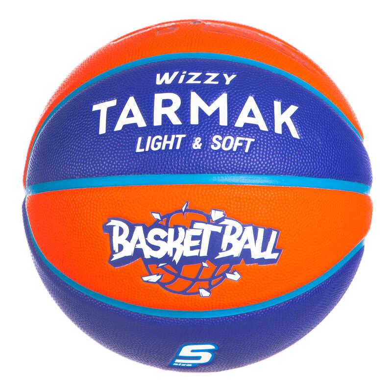 МЯЧИ И ЩИТЫ ДЛЯ БАСКЕТБОЛА ДЛЯ ДЕТЕЙ Баскетбол - МЯЧ WIZZY BB T5 Оранж.-синий TARMAK - Баскетбол