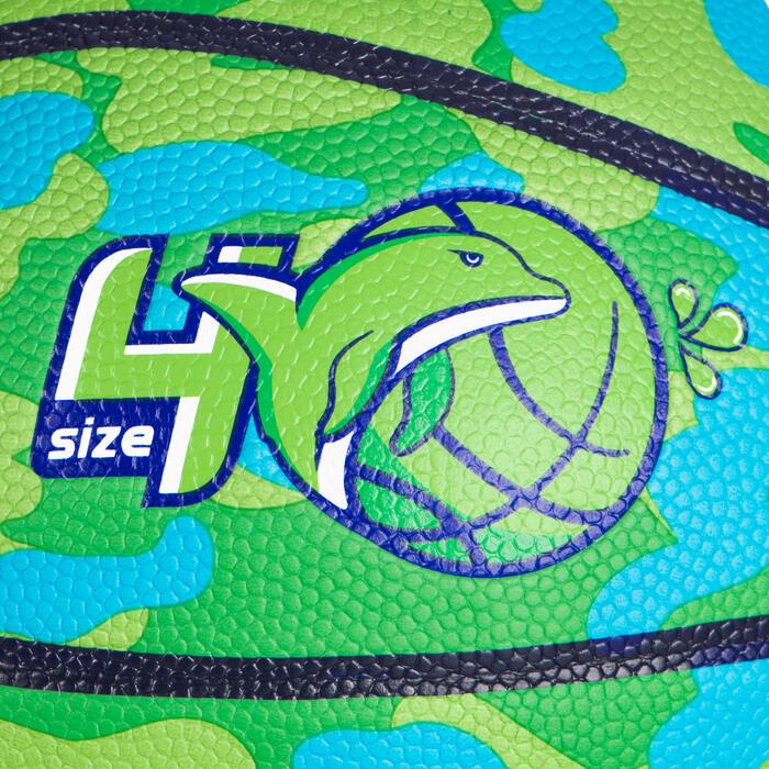 Kids' Beginner Basketball Aniball K500 - Green/Blue