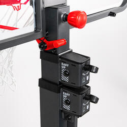 兒童/成人款籃球架B500(2.4m 到 3.05m)。 2分鐘即可架設與收合。