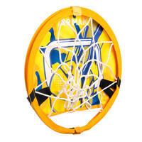 Kids'/Adult Mobile Basketball Basket with Ball Hoop 100 - Yellow/Blue