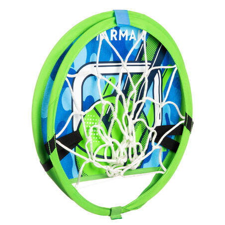 Kids'/Adult Mobile Basketball Basket with Ball Hoop 100 - Green/Blue