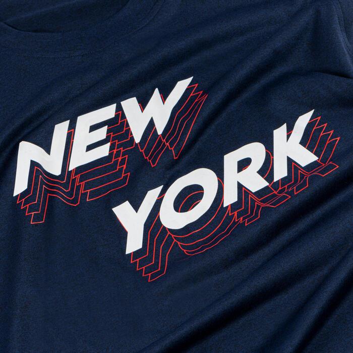 T-SHIRT / MAILLOT SANS MANCHE DE BASKETBALL HOMME TS500 BLEU NEW YORK
