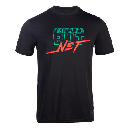 អាវយឺតបុរស TS500 Fast សម្រាប់លេងបាល់បោះ - ខ្មៅ Nothing But Net