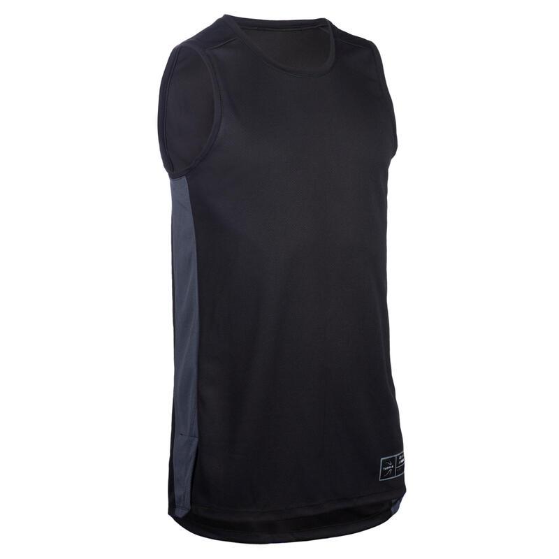 Mouwloos basketbalshirt voor heren T500 zwart