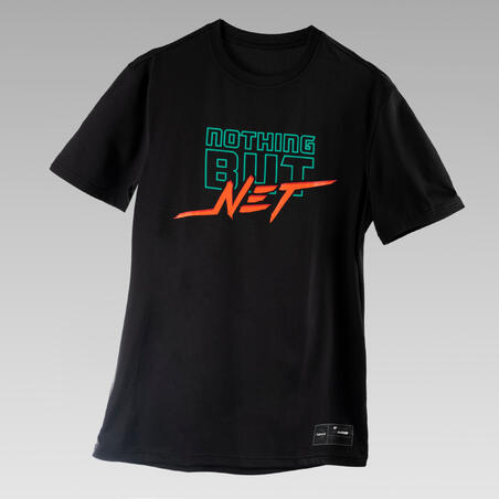 Men's Basketball T-Shirt / Jersey TS500 Fast - Black Nothing But Net