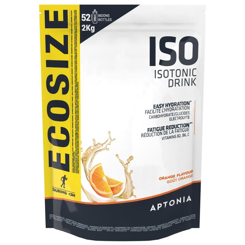 Poeder voor isotone sportdrank ISO sinaasappel 2 kg