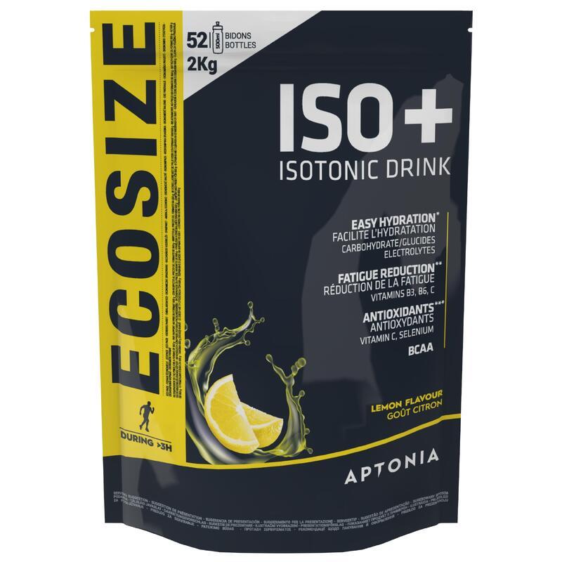 Poeder voor isotone sportdrank ISO+ citroen 2 kg