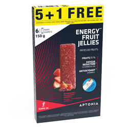 ENERGY FRUIT JELLIES AARDBEI/CRANBERRY/ACEROLA 5x 25 G + 1 GRATIS