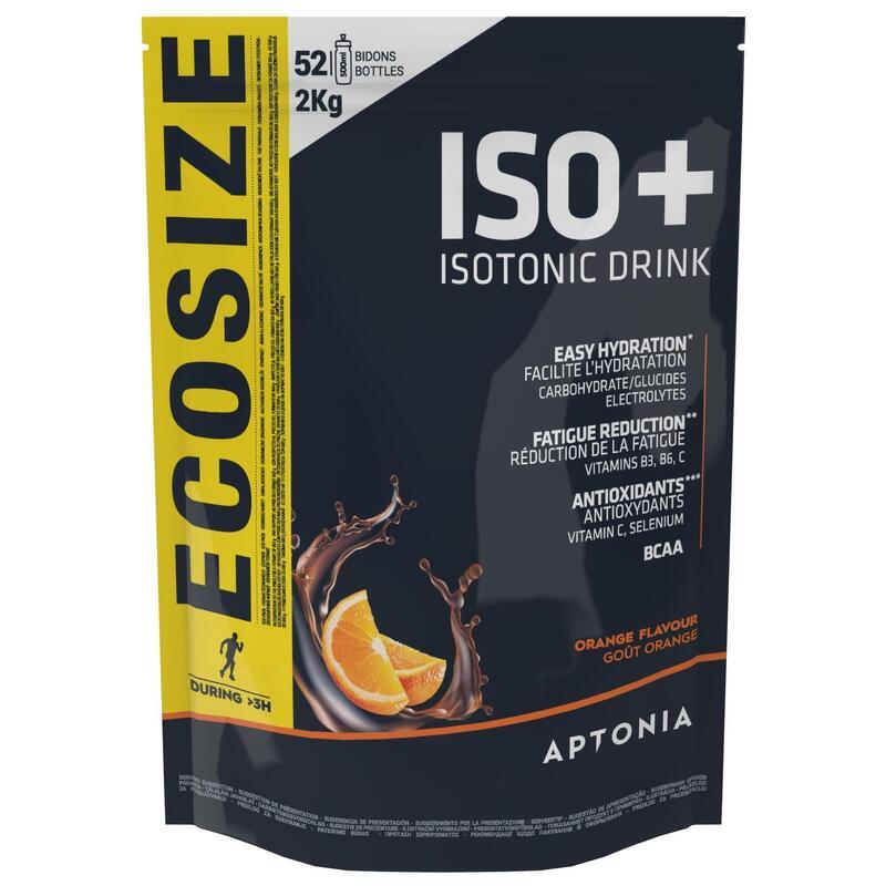 Poeder voor isotone sportdrank ISO+ sinaasappel 2 kg