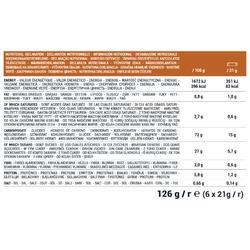 Barre céréales Choco Caramel 6 X 21g