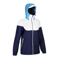 Waterproof Windproof Sailing Jacket 100 - Blue Cyan