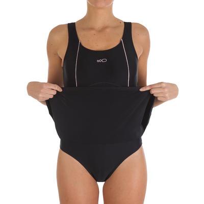 Maillot de bain natation une pièce femme Audrey noir