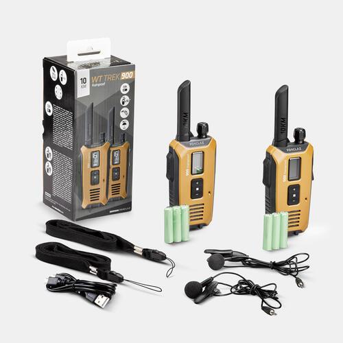 PAIRE DE TALKIE-WALKIES RECHARGEABLE PAR USB ETANCHE - WT TREK 900 - 10KM