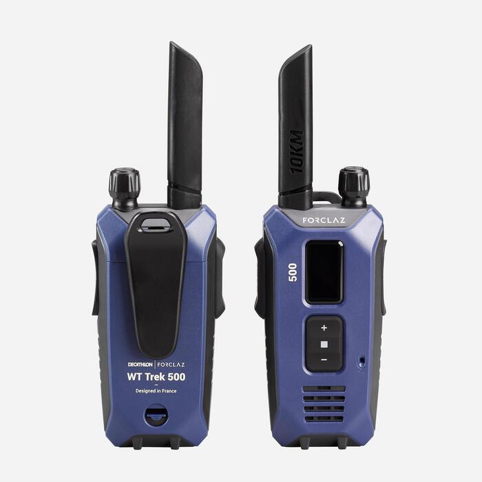 Paire de talkie-walkies rechargeable par USB - WT TREK 500 - 10km