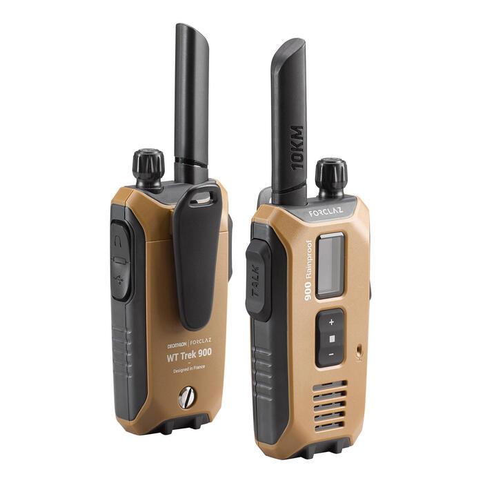 Paire de talkie-walkies étanches et rechargeable par USB - WT TREK 900 - 10km