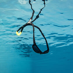 Adult Sailing Floating Cord Retainer - Black Yellow