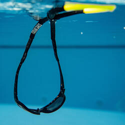 成人款航海浮水眼鏡繫繩-黑色/黃色
