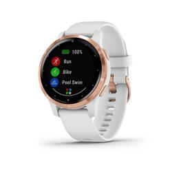 Smartwatch com GPS Garmin Vivoactive 4S Branco e Dourado