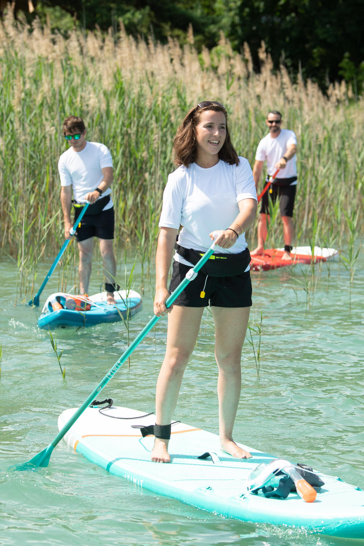 stand up paddle debutant pied