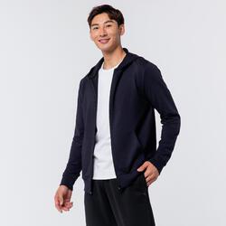 Lightweight Zip-Up Fitness Hoodie - Navy Blue