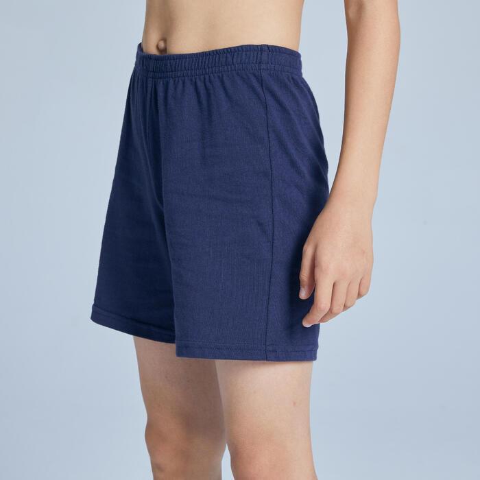 Shorts Basic Baumwolle Kinder marineblau