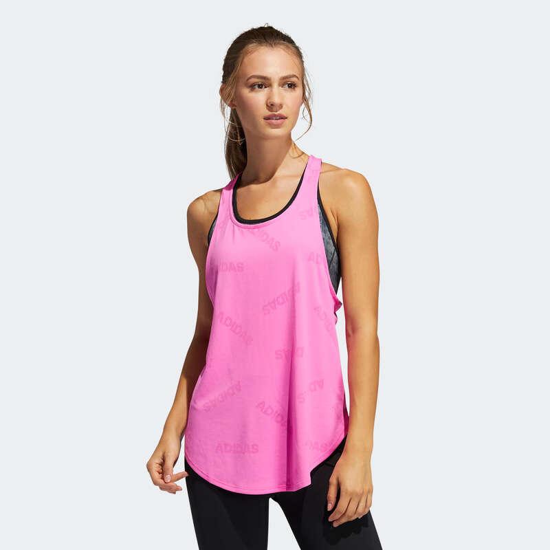 Îmbrăcăminte cardio fitness damă - Maiou Adidas Roz Damă ADIDAS