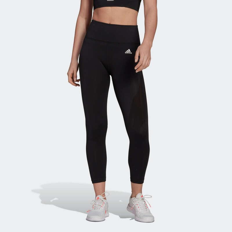 Îmbrăcăminte cardio fitness damă - Colanţi 7/8 Adidas negru Damă ADIDAS