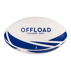 Bola de Rugby R100 Tamanho 5 para Treinos Azul