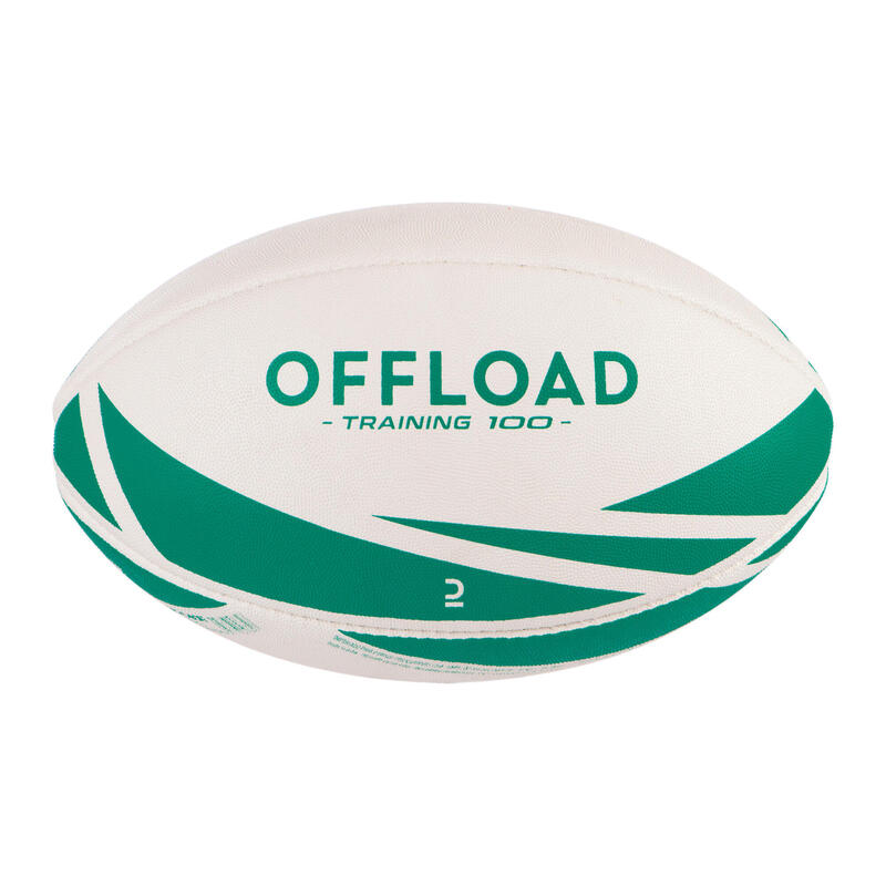 Size 3 Rugby Training Ball R100 - Green