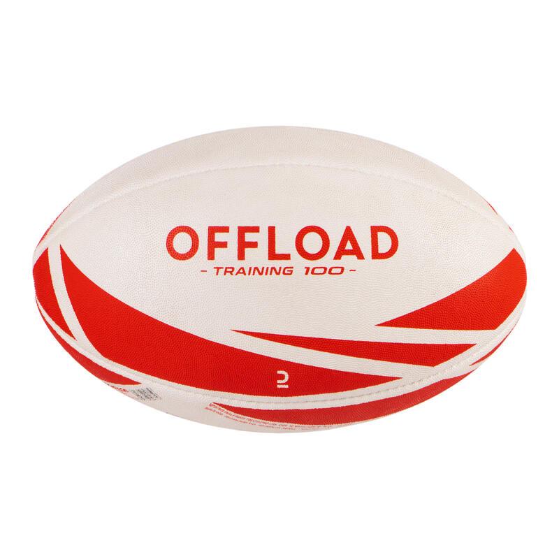Balón De Rugby Offload R300 Talla 4 Rojo