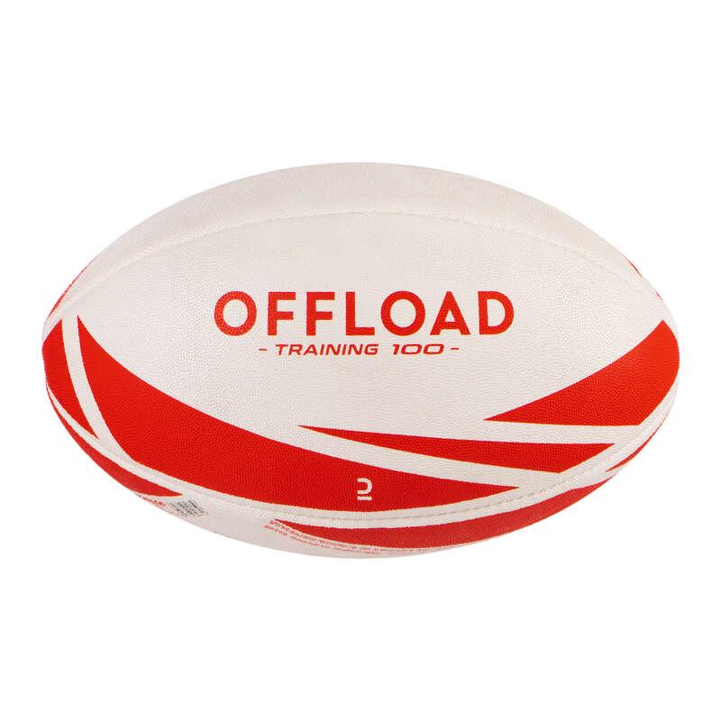 BOLLAR, TILLBEHÖR FÖR RUGBY Lagsport - Boll R100 Storlek 4 röd OFFLOAD - Rugby