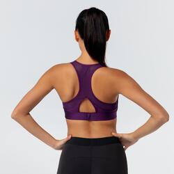 女款有氧健身訓練運動內衣500 - 紫色