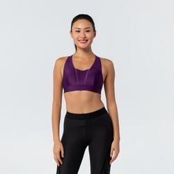 Women's Fitness Cardio Training Sports Bra 500 - Purple
