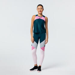High-Waisted Shaping Fitness Leggings - Color Block
